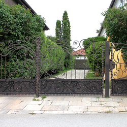 Artistic gate in romantic style hand-forged in Blacksmith's Art Studio UKOVMI