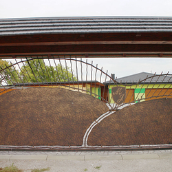 Self-supporting sliding gate forged for a family house near Prešov in eastern Slovakia