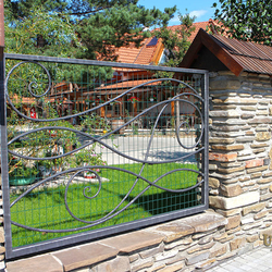 A wrought iron fence - An exclusive fencing