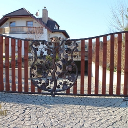 A gate - a vine in the coat of arms - A luxury gate
