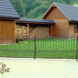 A wrought iron gate BABIČKA - cottage - 'Seclusion near the forest' - An exclusive gate